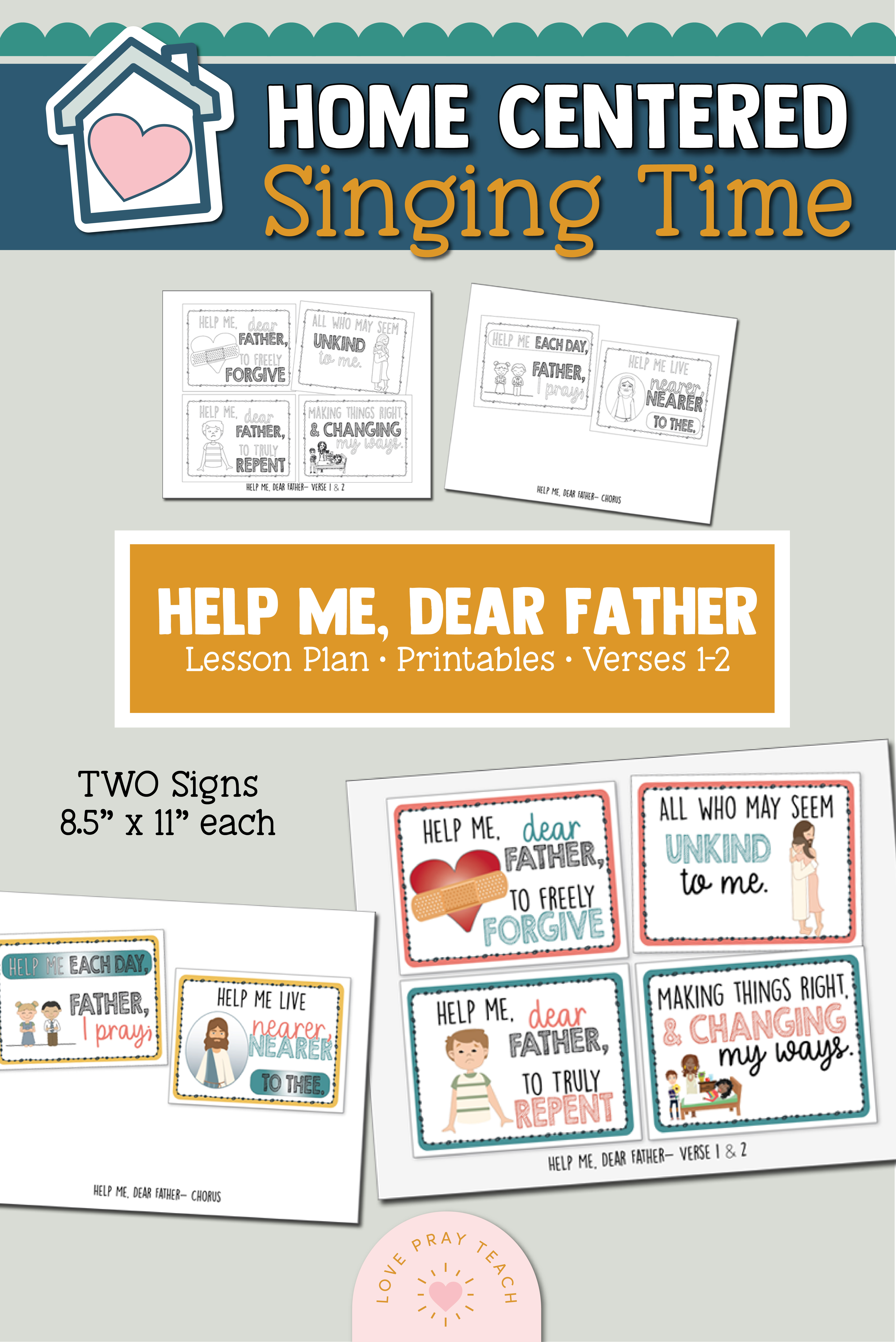 Home Singing Time- Help Me Dear Father